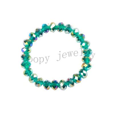 hot sale  green crystal beaded bracelet