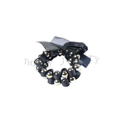 hot sale black bowknot handmade bracelet