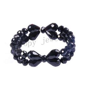 hot sale black glass beads handmade bracelet