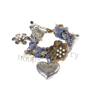 wholesale denim knited bracelet