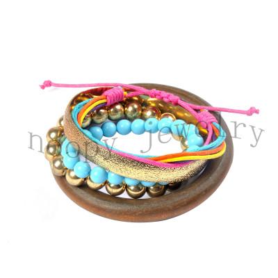 hot sale india style wooden bracelet