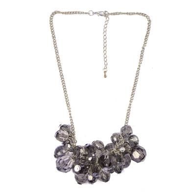 hot sale light grey acryl beads handmade necklace