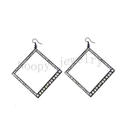 hot sale square diamond earring
