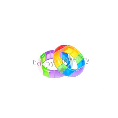 wholesale colorful DIY resin  finger ring