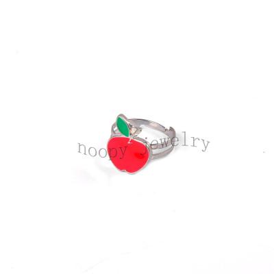 wholesale red apple children's  finger ring