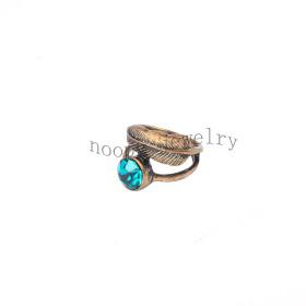 wholesale blue zirkon rhinestone  finger ring