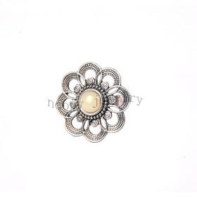 wholesale anti silver big flower finger ring