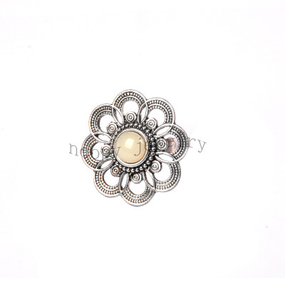 wholesale anti silver big flower finger ring