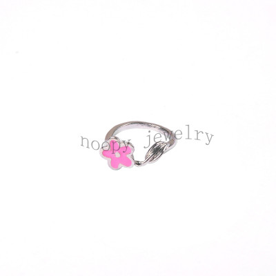 wholesale pink epoxy lovey finger ring