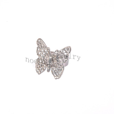 wholesale big butterfly alloy finger ring