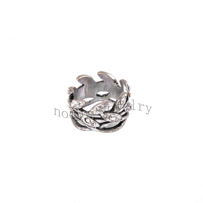 wholesale crystal stone leaf simple finger ring