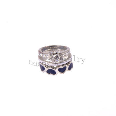 wholesale 3 pcs heart finger ring