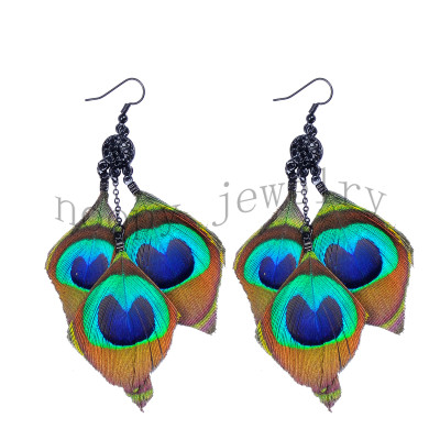 hot sale peacock feather earring