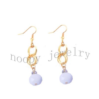 hot sale mat-gold crystal earring