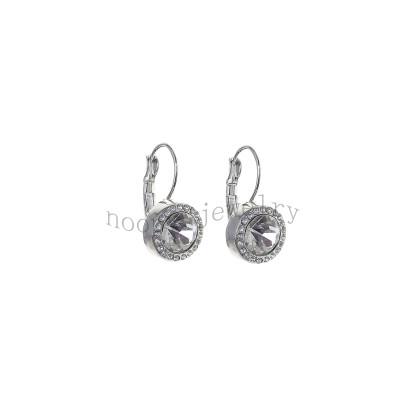 classical crystal stone simple diamond earring
