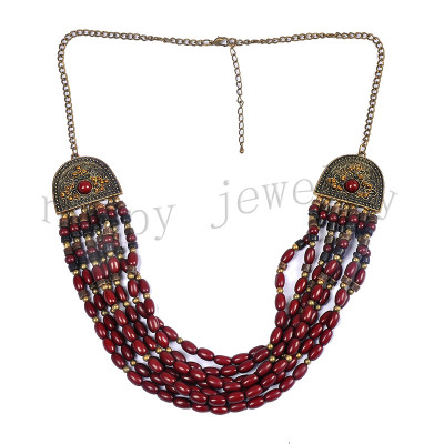 hot sale vintage india style beaded necklace