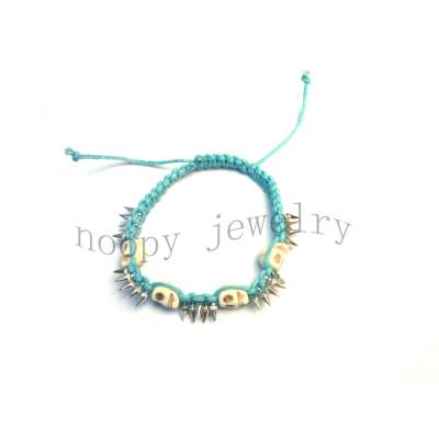 hot sale skull knit handmade bracelet