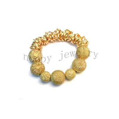hot sale gold plating punk beaded bracelet
