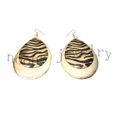 hot sale leopard print big iron earring NP30814E