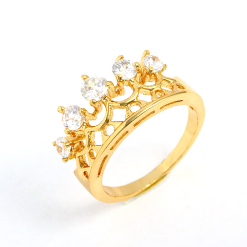 Diamond Fashion Rings For Women Fashion Royal Crown Imitate