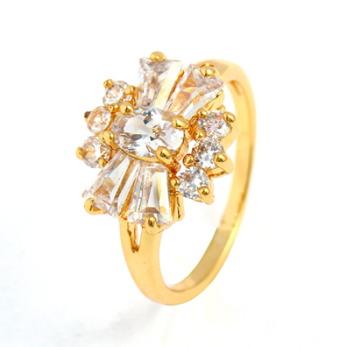 Gold Diamond Fashion Rings Fashion K Gold Plated