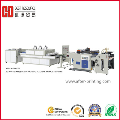 AUTOMATIC UV(Spot)  SCREEN PRINTING PRODUCTION LINE