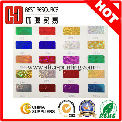 Over 180 kinds 12micron PET holographic foil for leather