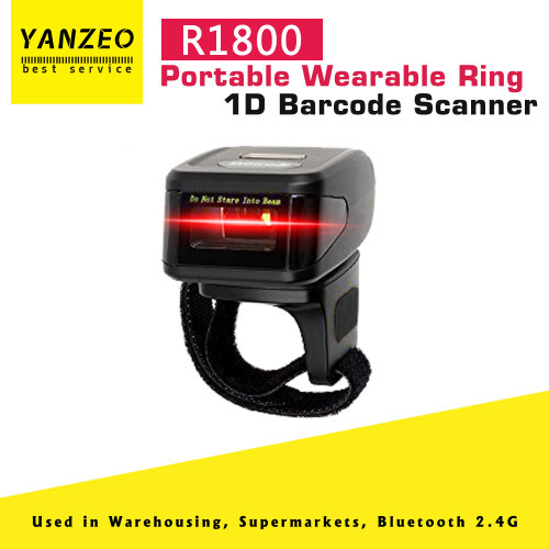 Yanzeo R1800 Portable Bluetooth 1D Wearable Ring Scanner Wireless Mini Barcode Scanner Reader