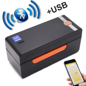 S618 Thermal Barcode Label Printer Bluetooth USB 4x6 Label Printer Commercial Thermal Sticker Machine Windows & Mac OS System