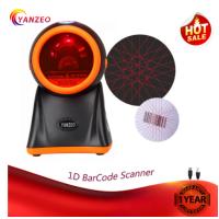 Yanzeo Omni-Directional High Speed Desktop 20 Lines RS232 1D BarCode Scanner for Supermarket Warranty 12 Months