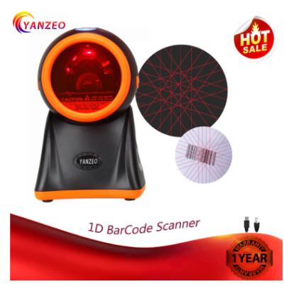 1D Desktop BarCode Scanner  Yanzeo RS232 20Lines for Supermarket Warranty 12 Months