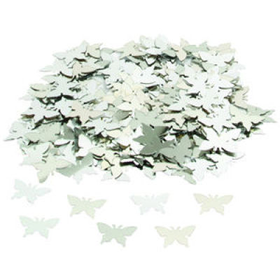 Silver butterfly shape table confetti for wedding decoration