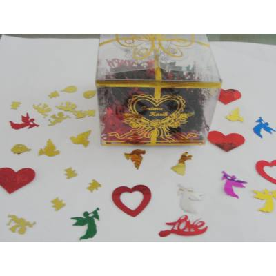 Multi shapes table confetti for wedding decoration