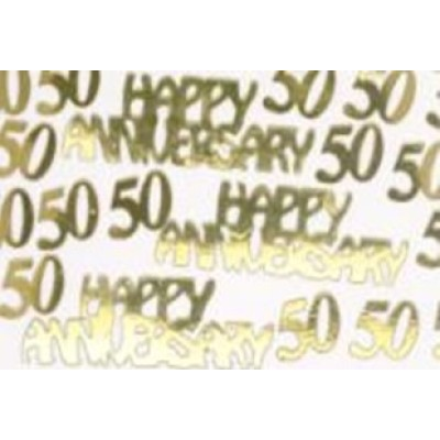 Gold anniversary  shape table confetti for wedding decoration