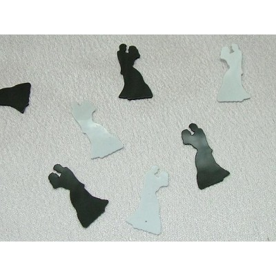 Biride and groom  shape table confetti for wedding decoration