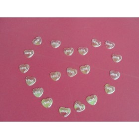 Pink love heart  shape table confetti for wedding decoration