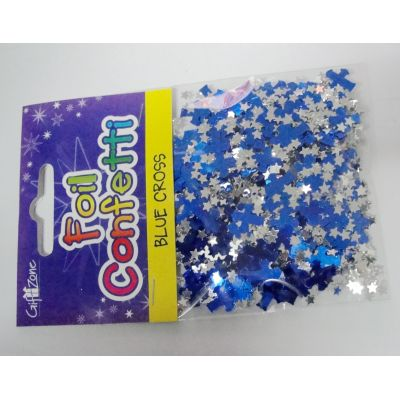 Blue cross  table confetti for Chirstmas decoration