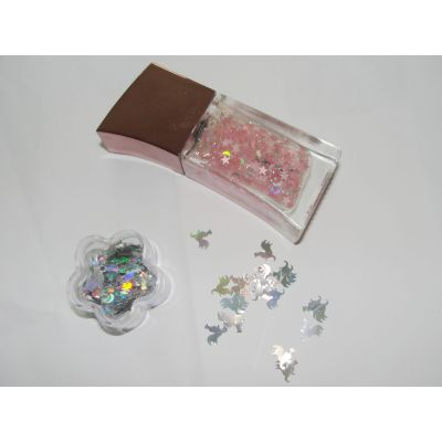 High temperature rainbow glitter powder for nail polish