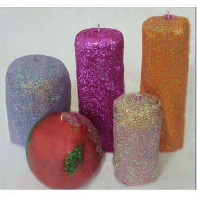 High temperature rainbow glitter powder for crafts candle