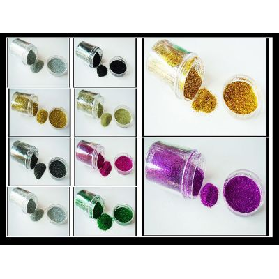Eco-friendly glitter powder for greeting cards deocration