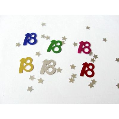 Age 18  table confetti for Birthday celebration decoration
