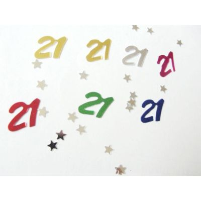 Age 21  table confetti for Birthday celebration decoration