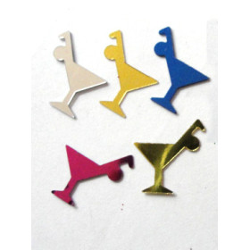 Margarita Cocktail shape table confetti for Birthday celebration decoration