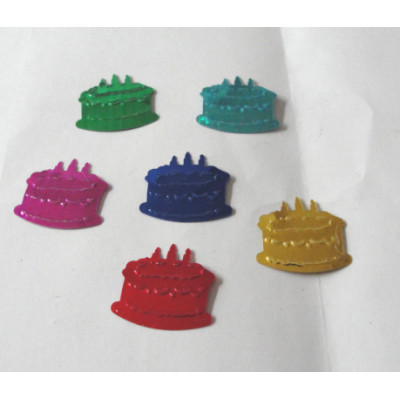 Birthday cake shape table confetti for Birthday celebration decoration