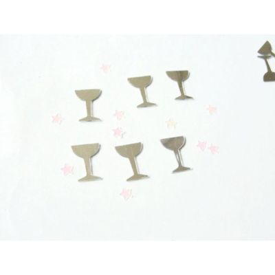 Silver cup shape table confetti for Birthday celebration decoration