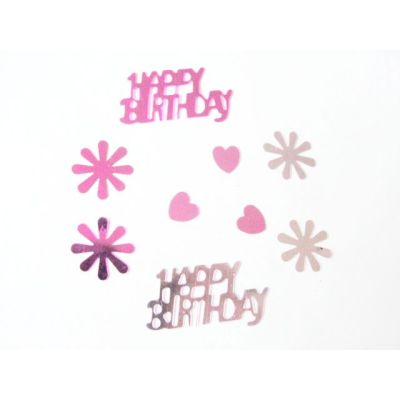 Happy Birthday shape table confetti for Birthday celebration decoration