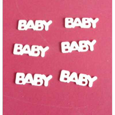 Baby  shape table confetti for Baby's Birthday celebration