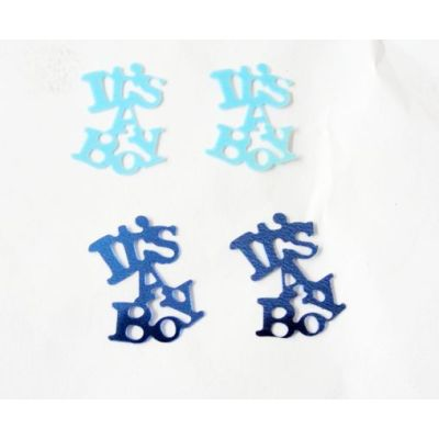It's a boy shape table confetti for Baby's Birthday celebration