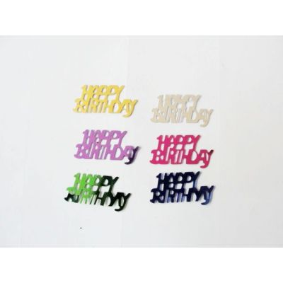 Happy birthday shape table confetti for Baby's Birthday celebration