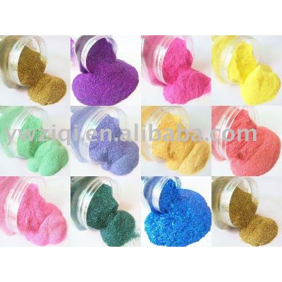 hexagon rainbow colour glitter powder for wedding crafts decoration